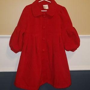Red, Semi-formal, girls winter coat.